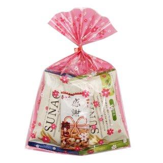(全国送料無料) おかしのマーチ お菓子詰め合わせ 素直(SUNAO)な感謝セット 花柄ラッピング プチギフト メール便 (omtmb0729)