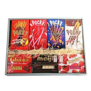 おかしのマーチ ポッキー & チョコレートギフトセット A (7種・計14コ) (omtma5911g)