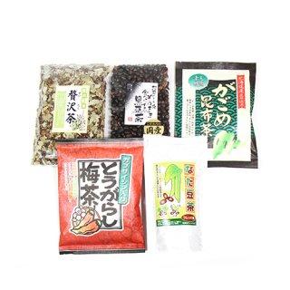 (地域限定送料無料)健康お茶セット(5種・計5コ) A おかしのマーチ (omtma5967k)