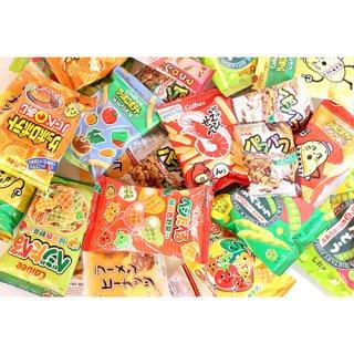 (地域限定送料無料)  食べきりサイズのカルビーミニスナック(5種・16コ)& ヤスイの駄菓子(3種・計12コ)セット おかしのマーチ (omtma6131k)