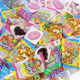 (全国送料無料) 大量!駄菓子グミセット(8種・計60コ)おかしのマーチ メール便 (omtmb6030)