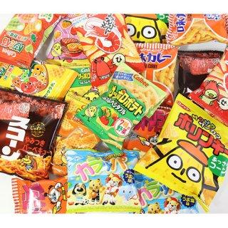 (地域限定送料無料) カルビー・湖池屋も入った駄菓子・小袋スナック菓子セット(9種・計18コ) (omtma6211k)