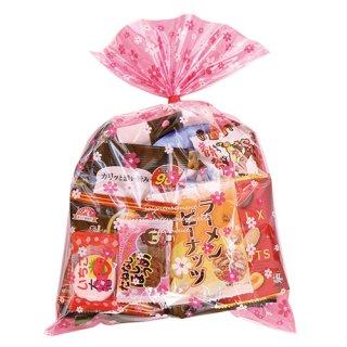 花柄袋大人おつまみスナック A お菓子袋詰め合わせ おかしのマーチ (omtma6269)