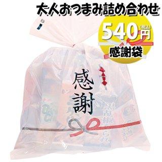 感謝袋 500円 大人おつまみスナック B お菓子袋詰め合わせ おかしのマーチ (omtma6270)