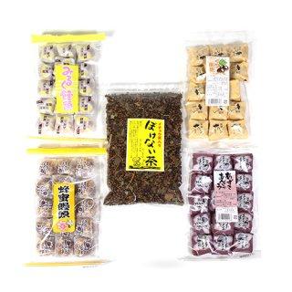 (地域限定送料無料) 出雲の和菓子4種&ぼけない茶セット(5種・5コ) おかしのマーチ (omtma6284k)
