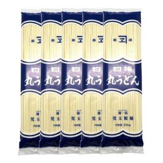 児玉製麺 白梅 丸うどん 250g(2〜3人前・つゆ付) 5コ入り (4972255000134x5)