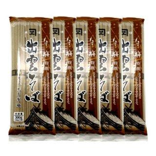 児玉製麺 白梅 特選出雲そば 300g(3人前・つゆ付) 5コ入り (4972255001148x5)