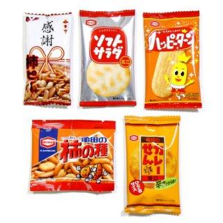 (全国送料無料) ミニせんべい (5種・計30個) セット おかしのマーチ メール便 (omtmb6350)