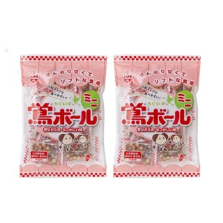 (全国送料無料) 植垣米菓 鴬(うぐいす)ボールミニ 108g 2コ入り メール便 (4901016014424sx2m)