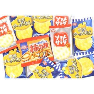 (全国送料無料) アジカル 柿の種ミニ&濃厚チーズせん&ソフトサラダミニ セット (3種・計32個) おかしのマーチ メール便 (omtmb6607)