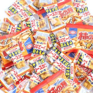 (全国送料無料)ペヤングやきそばソースカツ&柿の種セット【2種・計60コ】おかしのマーチ メール便(omtmb6822)