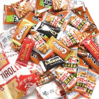 (地域限定送料無料) 駄菓子 チョコレート せんべい入り 当たりますようにセット B おかしのマーチ (omtma5513kk)