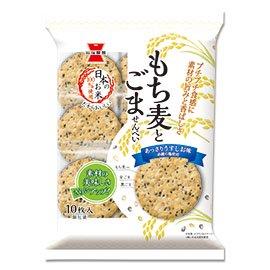 岩塚製菓 もち麦とごませんべい 10枚 12コ入り 2021/03/01発売 (4901037122610)