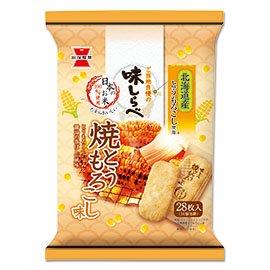 岩塚製菓 味しらべ 焼とうもろこし味 28枚(2枚入×14袋) 12コ入り 2021/03/08発売 (4901037116985)