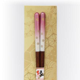 (全国送料無料) やくも箸本舗 ご縁箸 「桜の通り(ピンク)」 1膳 メール便 (yb11288008m)