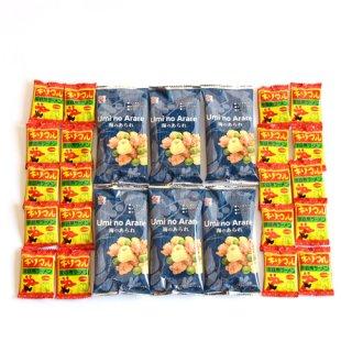 (全国送料無料) 海のあられ&キリマルラーメンスナックセット (2種・計26個) おかしのマーチ メール便 (omtmb7064)
