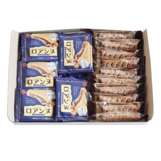 (全国送料無料)ザクザク食感!ロアンヌチョコクランチとサクサク食感!サクッテのセット【2種・計20コ】おかしのマーチ メール便(omtmb7068z)