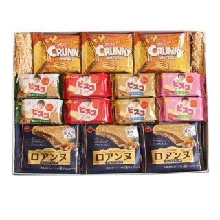 (全国送料無料)グリコも入ったクリーム&チョコぎっしりのサンドしたお菓子ギフトセット おかしのマーチ プチギフト メール便(omtmb7076gz)