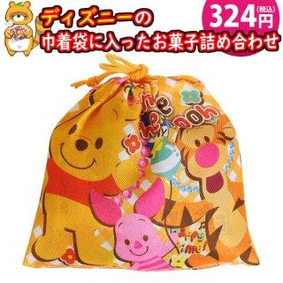 ディズニー巾着袋 300円A お菓子 詰め合わせ(5コ入)駄菓子 袋詰め おかしのマーチ (omtma7442)