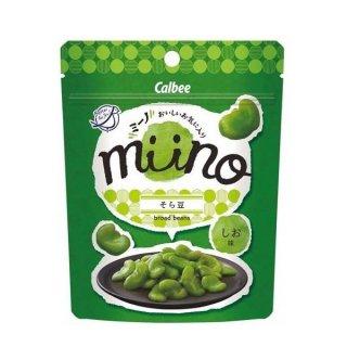 カルビー miino そら豆しお味 28g 12コ入り (4901330803544)