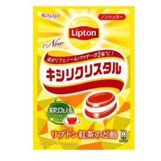 春日井製菓 キシリクリスタル リプトン紅茶のど飴 58g(個装紙込み) 6コ入り 2021/09/06発売 (4901326130432)