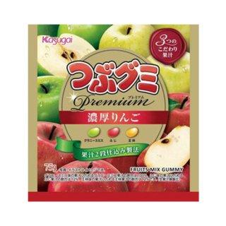 春日井製菓 つぶグミPremium 濃厚りんご 75g 80コ入り 2021/09/06発売 (4901326042490c)