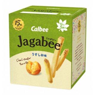 カルビー Jagabee(じゃがビー) うすしお味 80g (16g×5) 12コ入り 2021/09/06発売 (4901330646417)