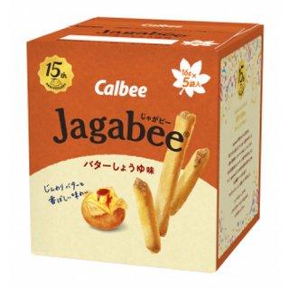 カルビー Jagabee(じゃがビー) バターしょうゆ味 80g (16g×5) 12コ入り 2021/09/06発売 (4901330646394)