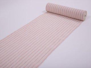 小千谷縮<br>白地 ピンク縞<br>吉新織物