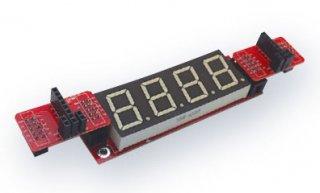 Arduinoコネクタ変換モジュール + 7セグメント4桁モジュール