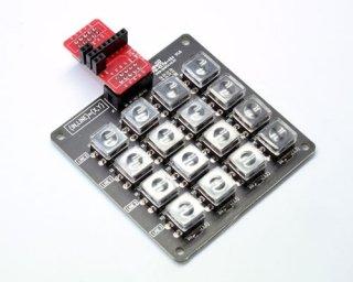 Arduinoコネクタ変換モジュール + 4x4マルチキーマトリクスモジュール