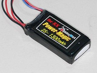 PowerMagic-LW リポ 7.4V-1300mAh(受信機用)