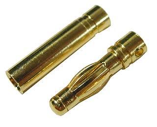ゴールド・コネクター4.0mm(ロング) オス/メス 5個組