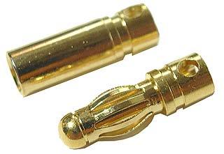 ゴールド・コネクター3.5mm オス/メス 10個組