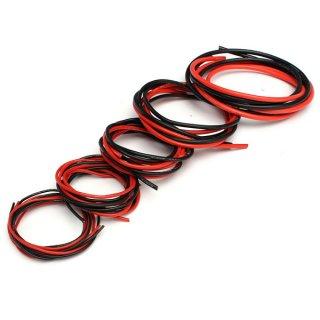 シリコンケーブル100cm 赤・黒2色セット AWG20(外径1.6mm)