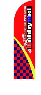 HOBBYNET レースフラッグSET(赤色)