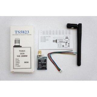 FPV 200mW 5.8Ghz ワイヤレス ビデオ トランスミッター TS5823-F3F JAPAN仕様 7ch(不正コピー防止仕様)
