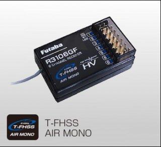 FUTABA R3106GF 2.4GHz T-FHSS T6L標準 6ch受信機 テレメトリー非対応 S.BUS