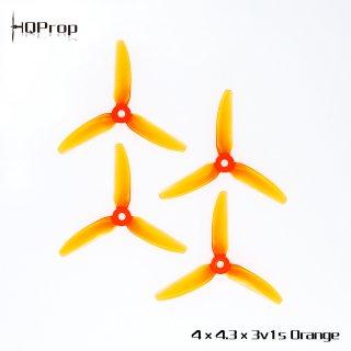 HQProp V1S 4x4.3x3(1機分) 4枚(ライトオレンジ)