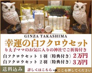 【こちらは化粧品と併せての販売です】幸運の白フクロウセット