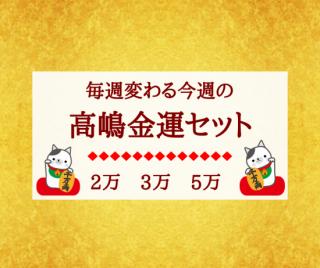 【美と金運の高嶋化粧品】毎週変わる高嶋金運セット 送料込み