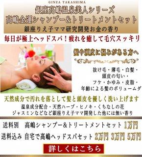 銀座高嶋金運シャンプー&トリートメント 極上ヘットスパセット
