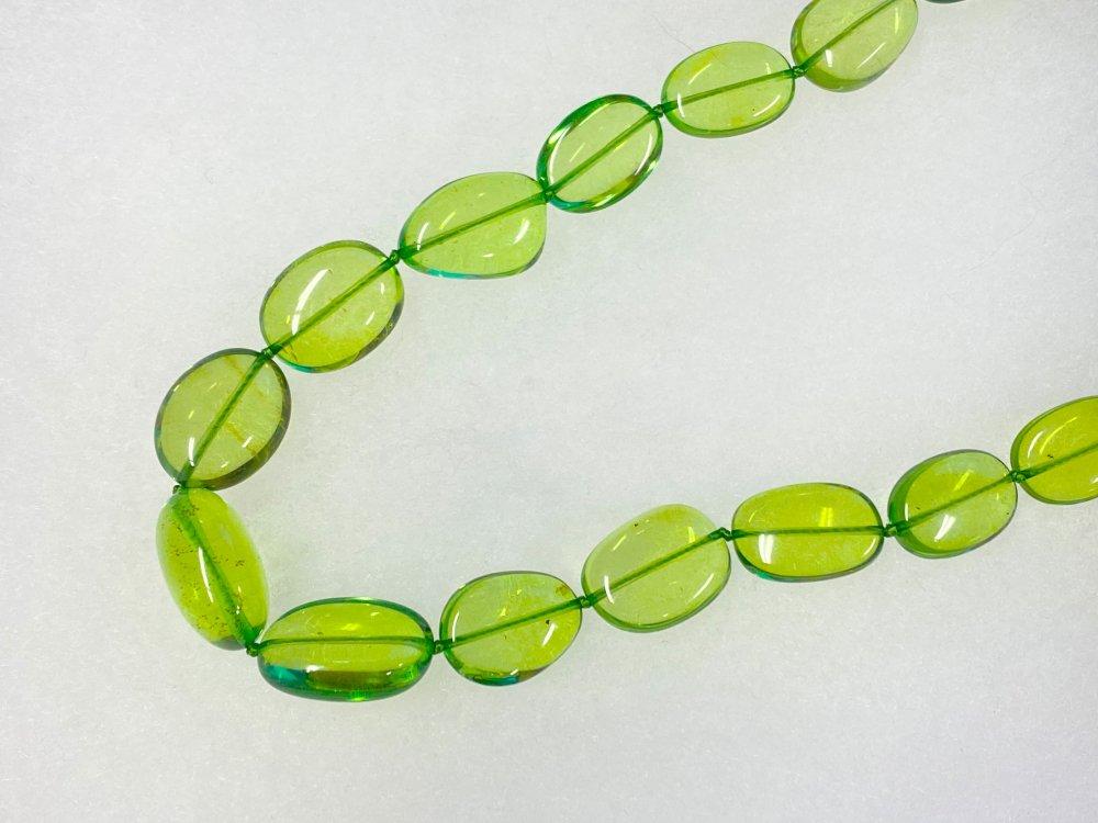 銀座ママセレクト 購入の際はメールでお問い合わせ下さい。緑琥珀 グリーンアンバー 軽くて可愛い ネックレス単品 高嶋化粧品半年以上ご愛用者様限定 送料込み