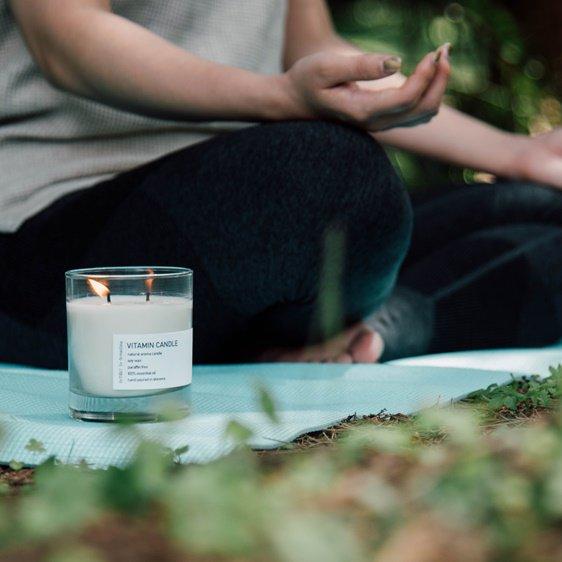ヨガ瞑想キャンドルReTREAT|自然素材100%香水のような香りに。