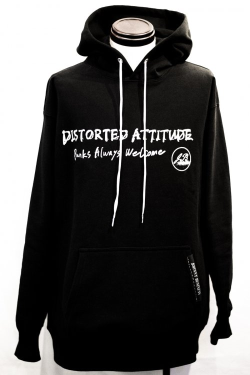 Distorted Attitude&Punks Always Welcome Hoodie