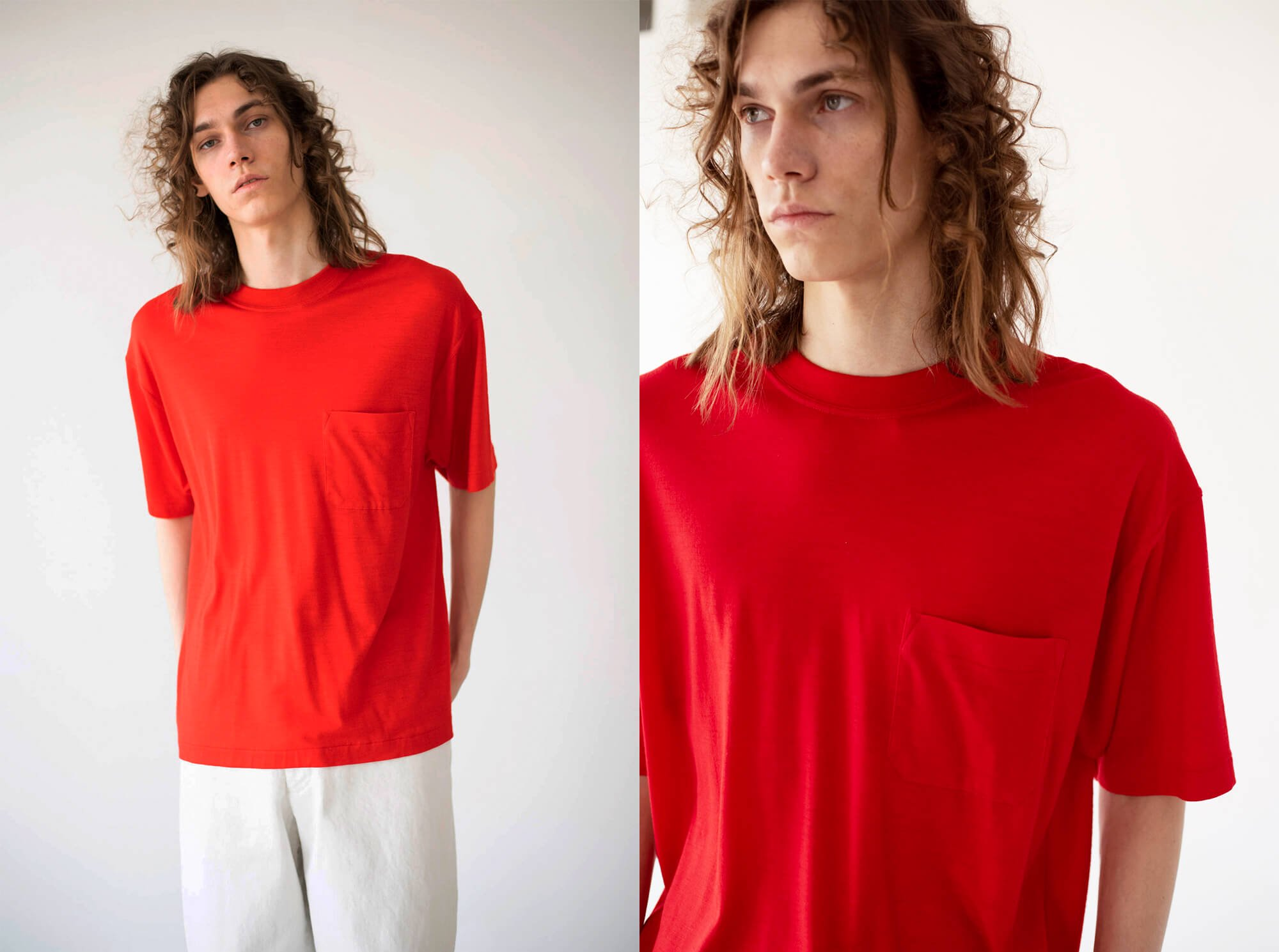 wool jersey short sleeve Tee