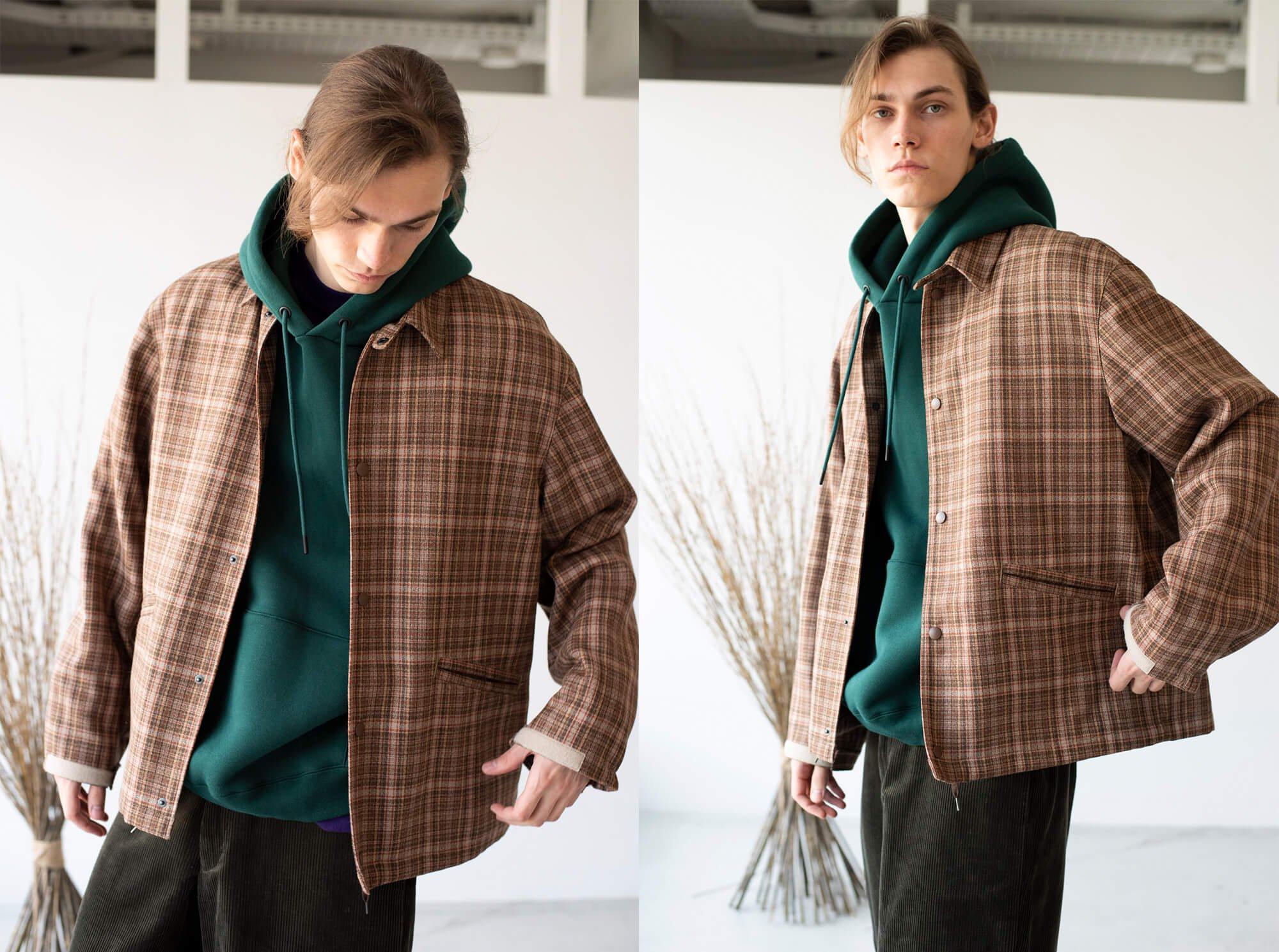 checked wool-amundsen coaches jacket