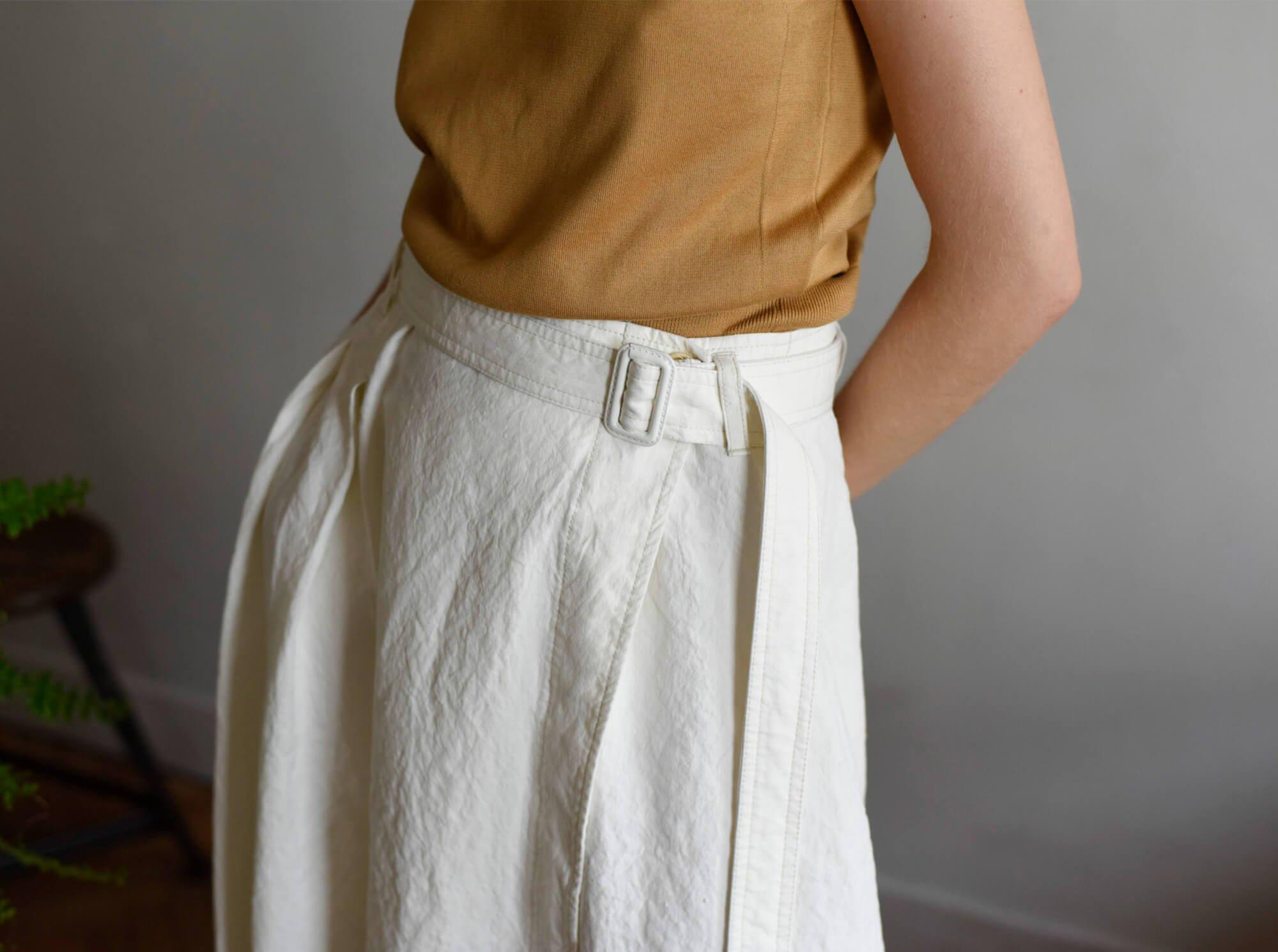 paper & linen-cloth wrap skirt