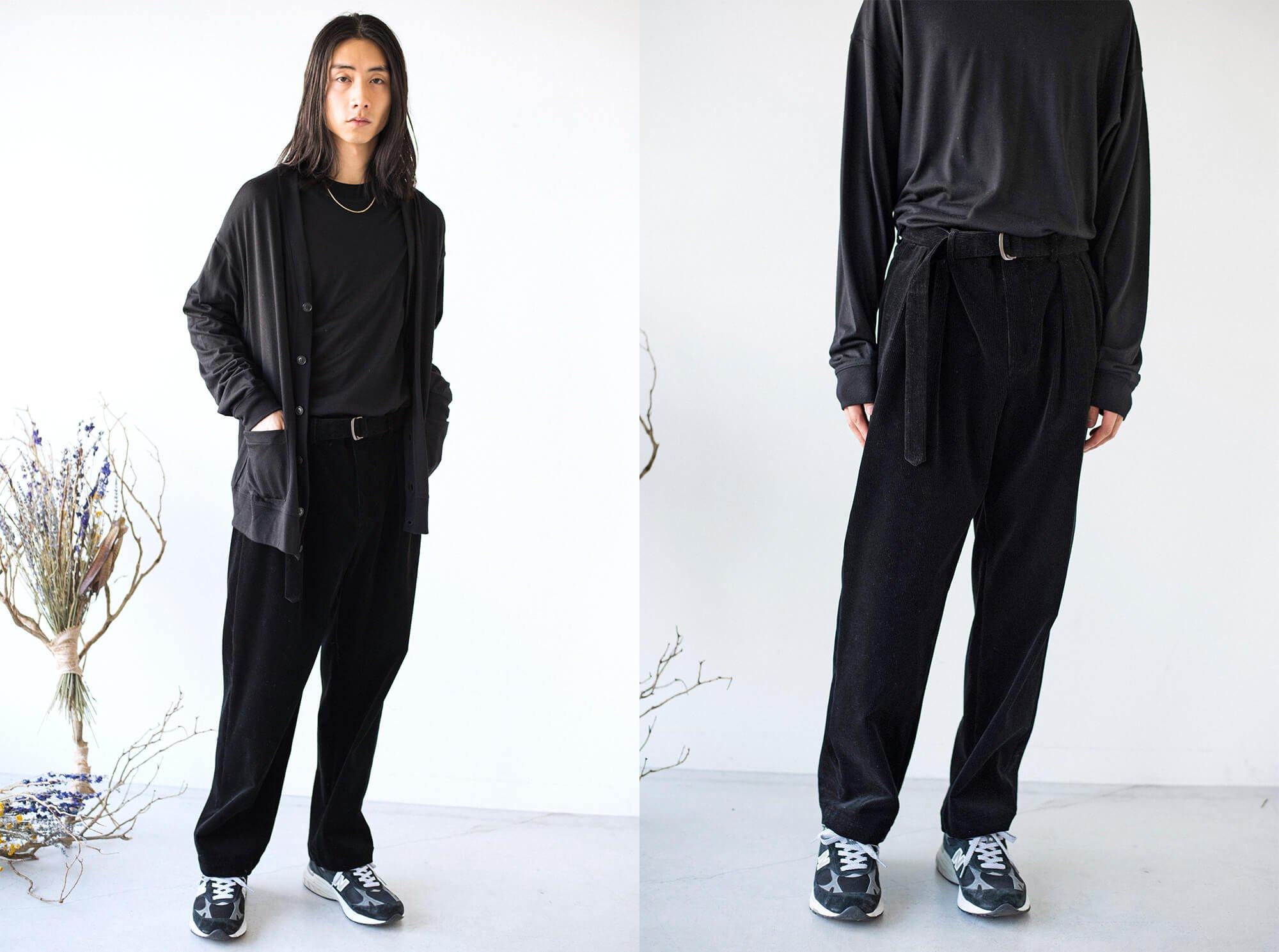 turfan cotton-corduroy 2tuck trousers