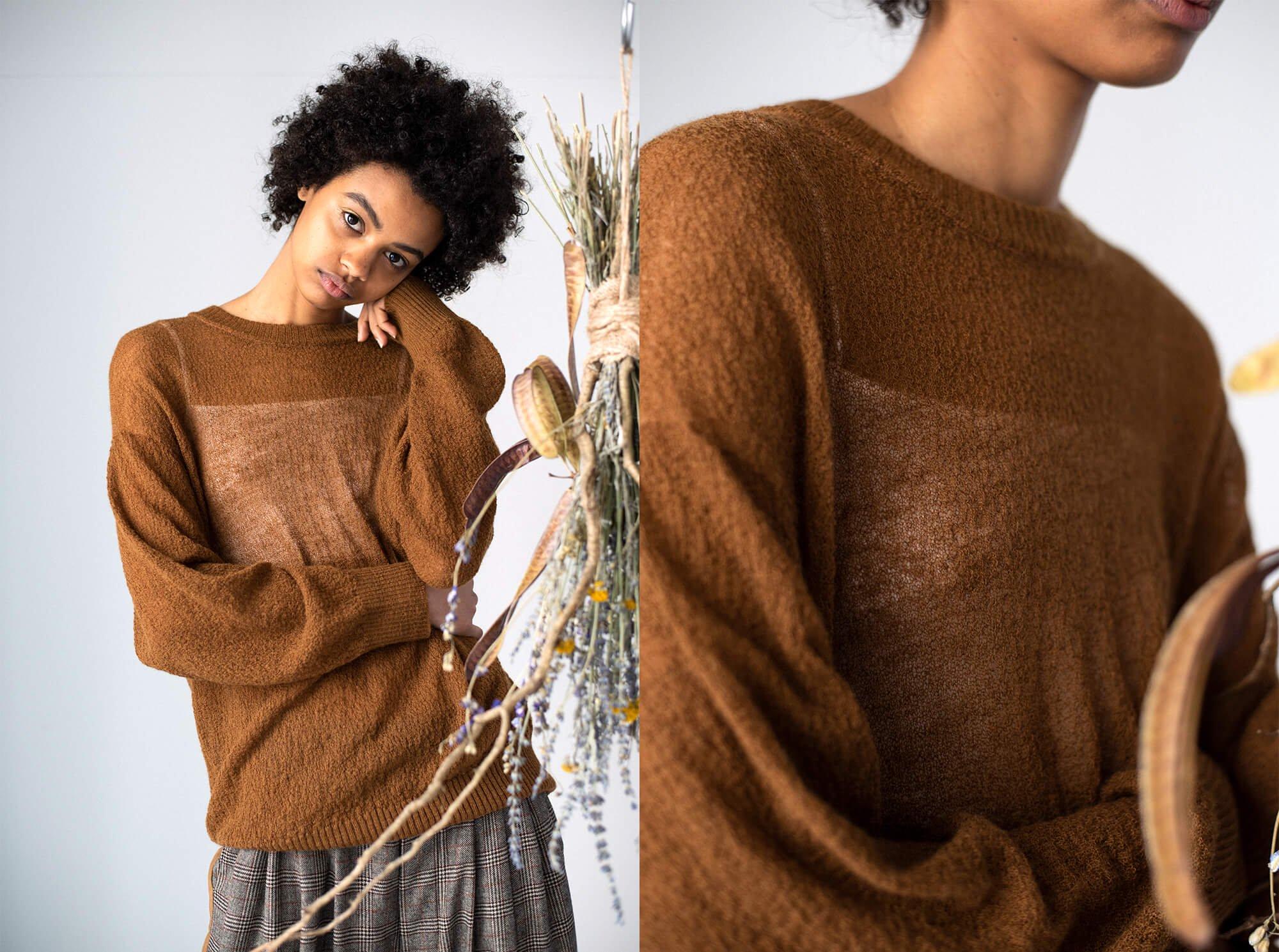 extrakid mohair amunzen-knit sweater